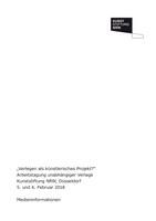 Verlegen als künstlerisches Projekt (Pressemappe)